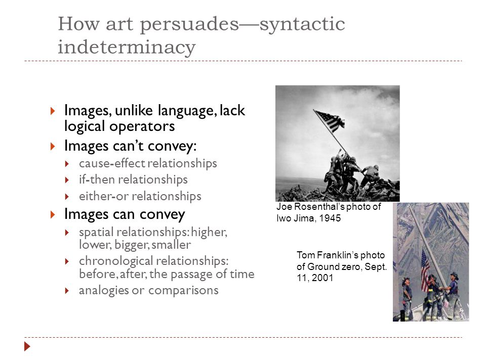 How art persuades—syntactic indeterminacy