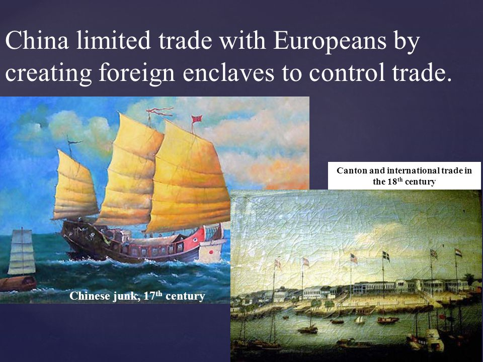 Canton and international trade in the 18th century