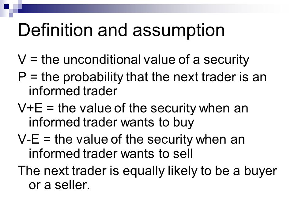 Definition and assumption