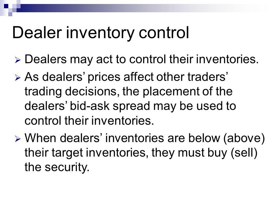 Dealer inventory control