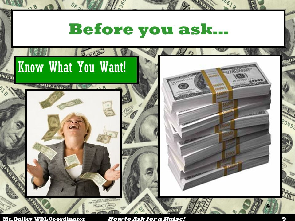 Before you ask… Know What You Want! 9