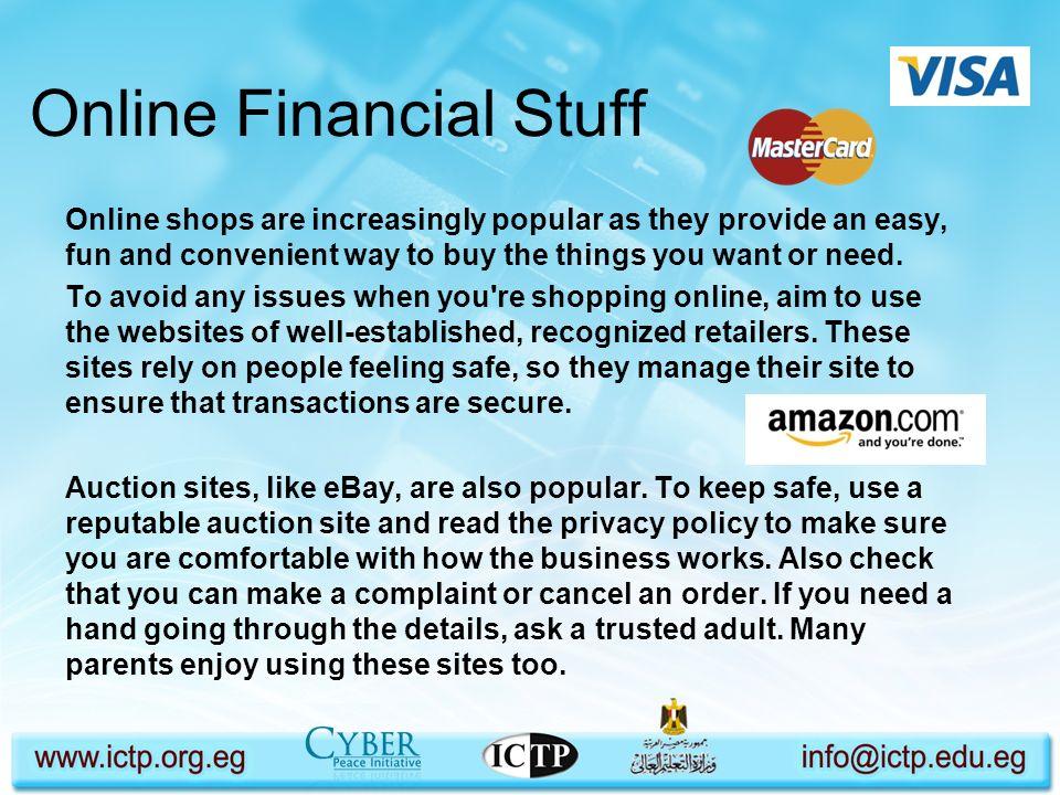 Online Financial Stuff
