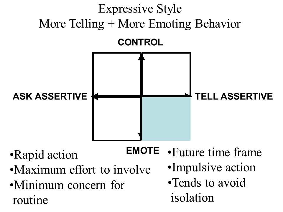 More Telling + More Emoting Behavior