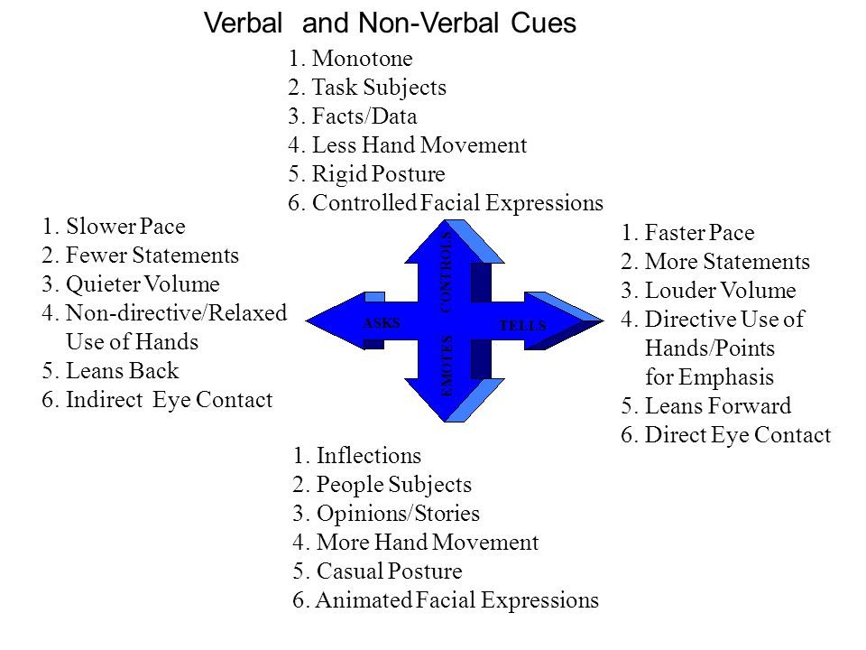 Verbal and Non-Verbal Cues