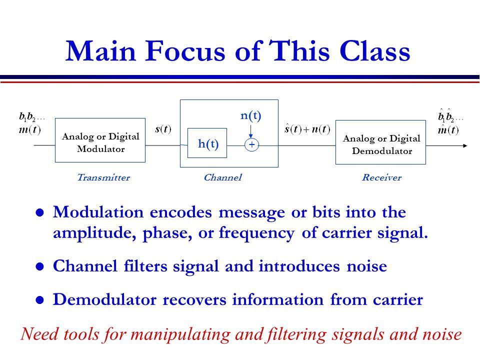 Main Focus of This Class