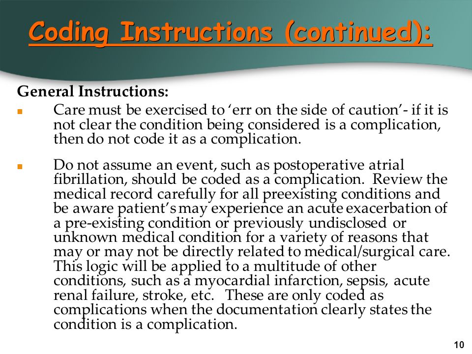 Coding Instructions (continued):