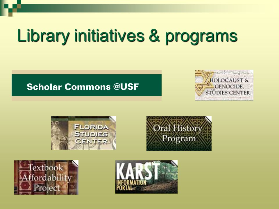 Library initiatives & programs