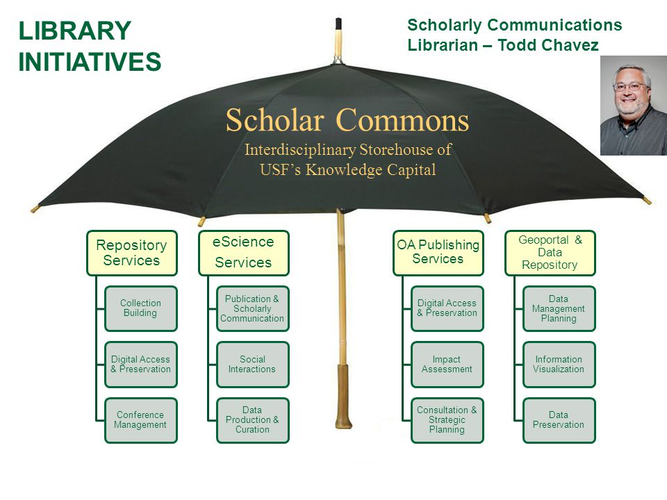 Scholar Commons LIBRARY INITIATIVES