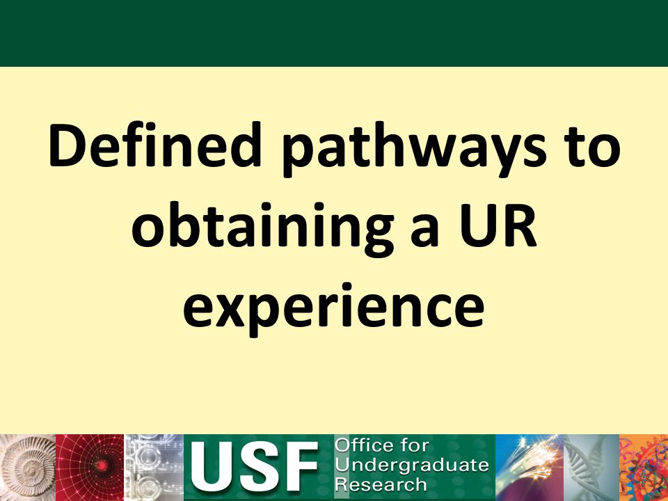 Defined pathways to obtaining a UR experience
