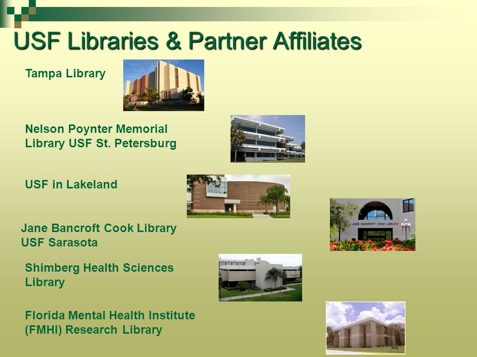 USF Libraries & Partner Affiliates
