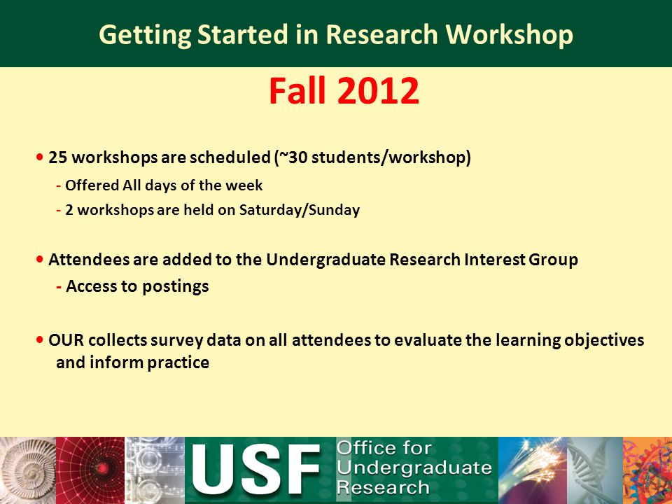 Getting Started in Research Workshop