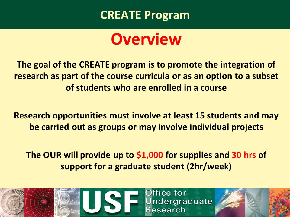 Overview CREATE Program