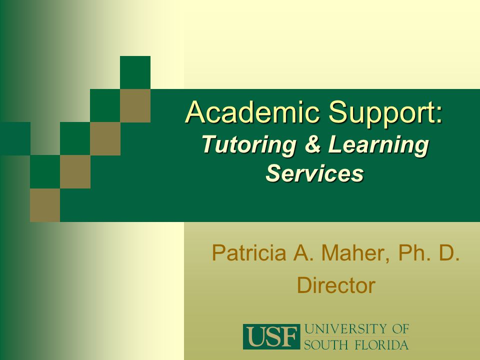 Academic Support: Tutoring & Learning Services