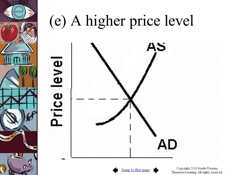 (e) A higher price level