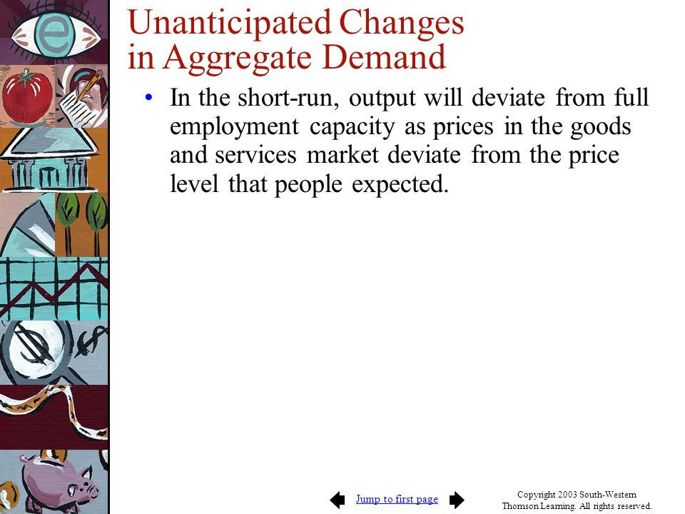 Unanticipated Changes in Aggregate Demand