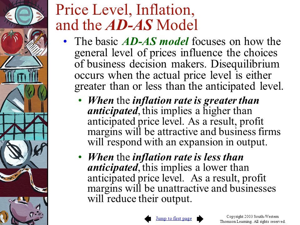 Price Level, Inflation, and the AD-AS Model
