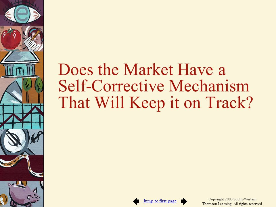 Does the Market Have a Self-Corrective Mechanism That Will Keep it on Track