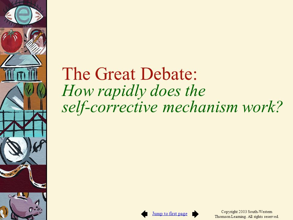 The Great Debate: How rapidly does the self-corrective mechanism work