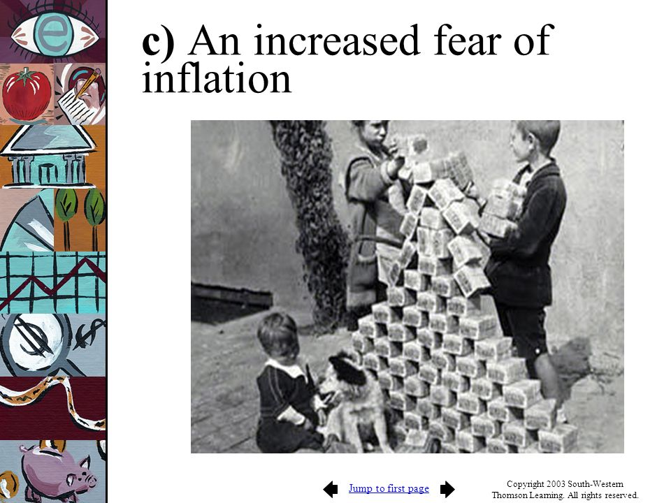 c) An increased fear of inflation