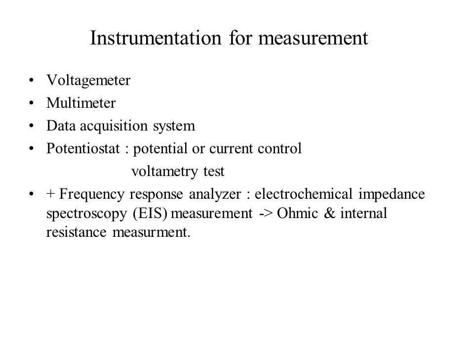 Instrumentation for measurement