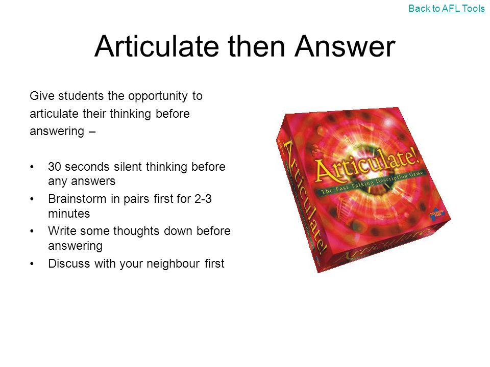 Articulate then Answer
