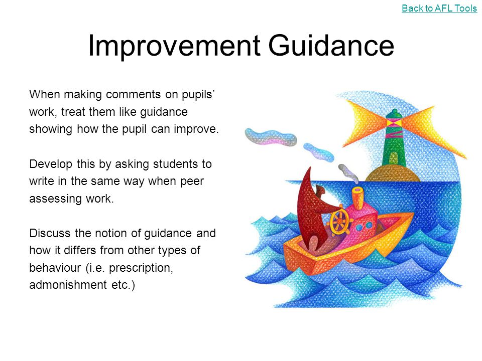 Improvement Guidance When making comments on pupils'