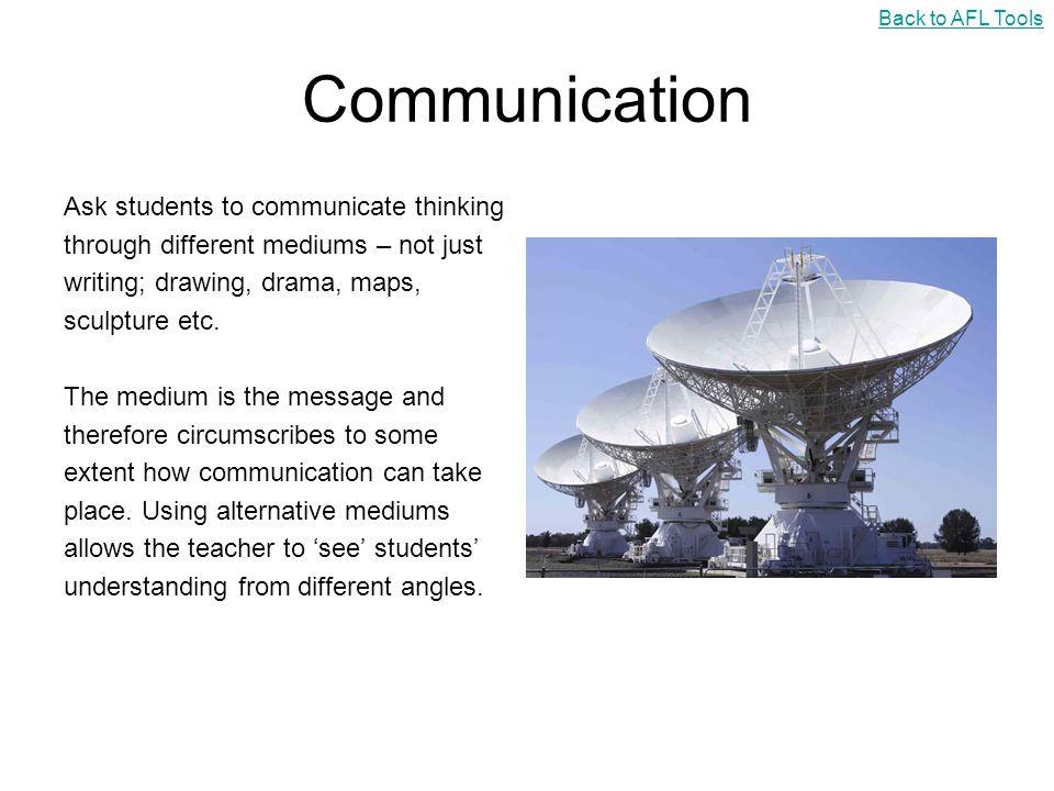Communication Ask students to communicate thinking