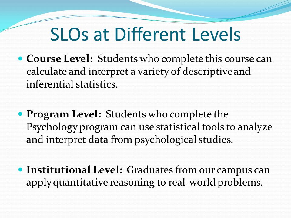 SLOs at Different Levels