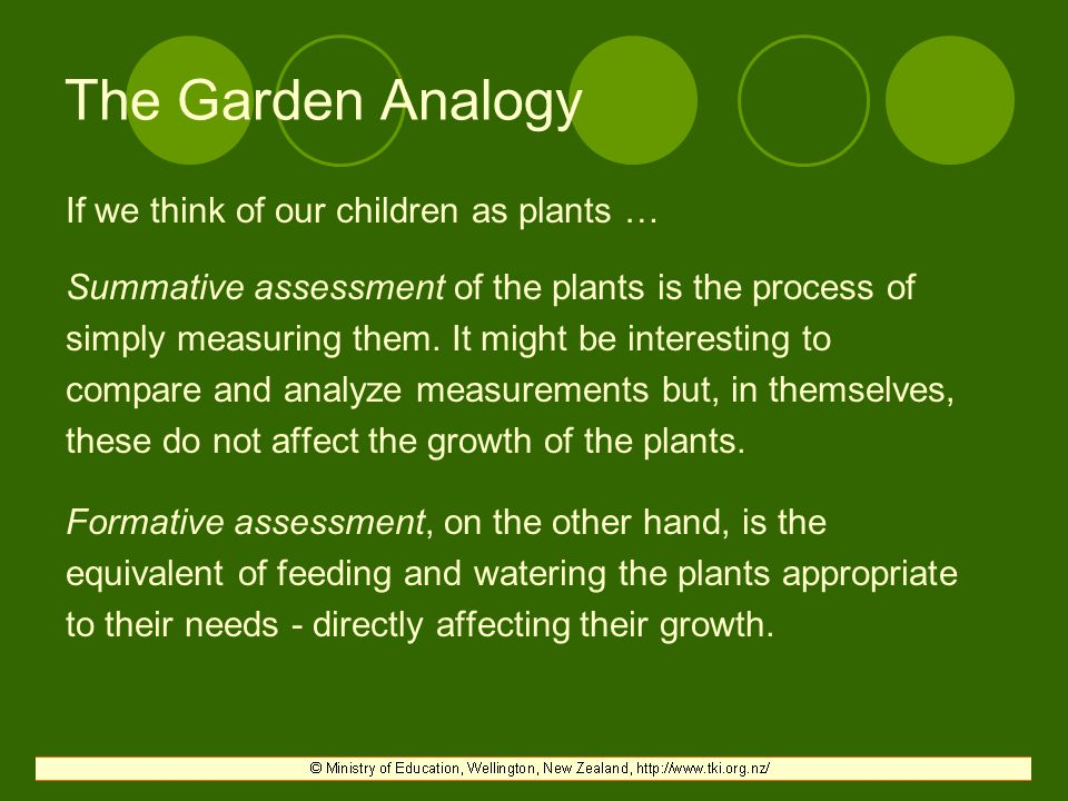 The Garden Analogy If we think of our children as plants …