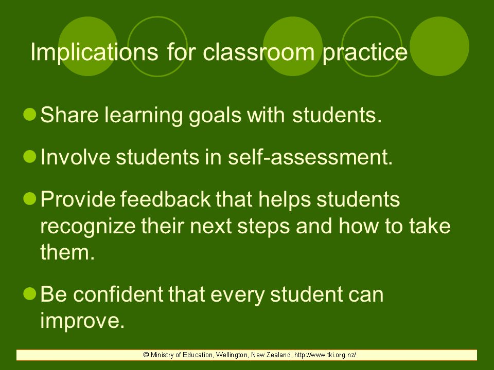 Implications for classroom practice