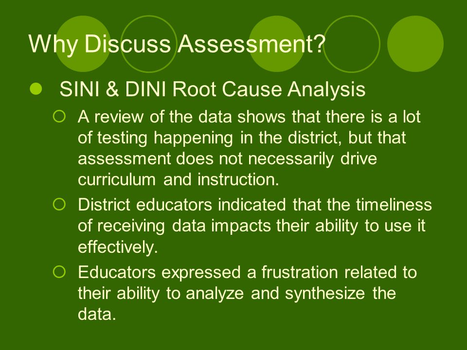 Why Discuss Assessment
