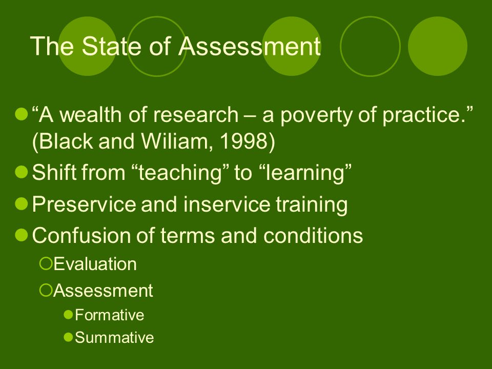 The State of Assessment