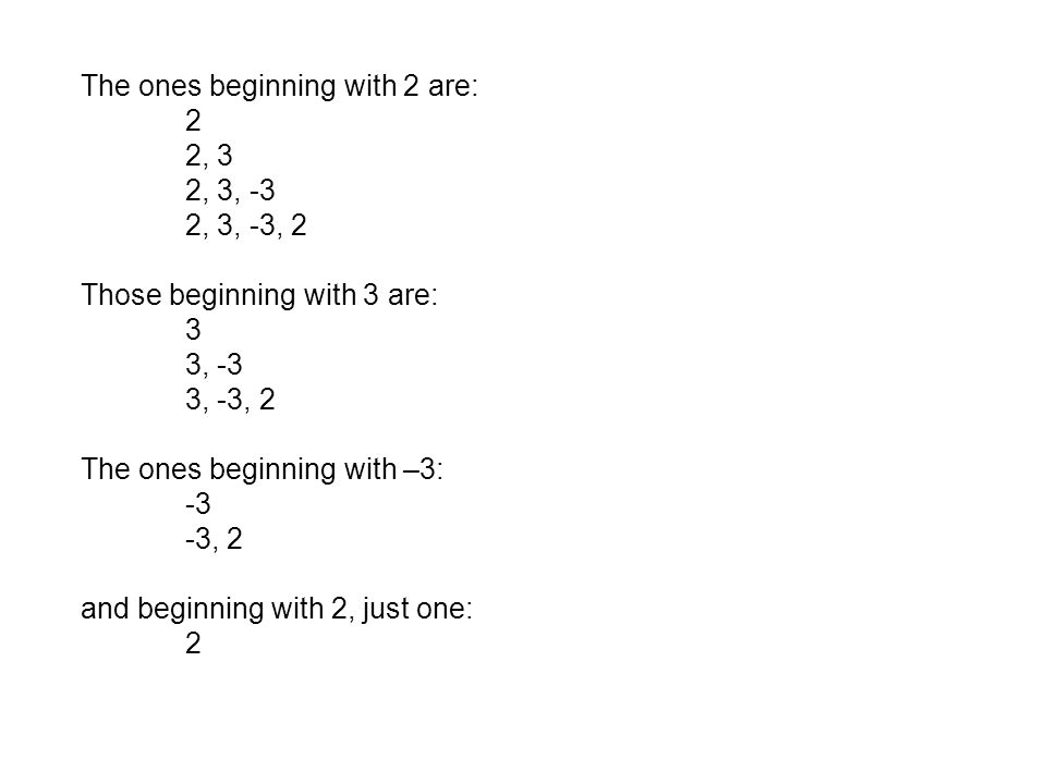The ones beginning with 2 are: