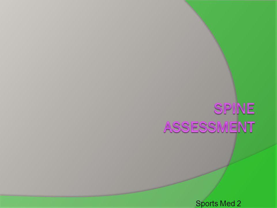 Spine Assessment Sports Med 2