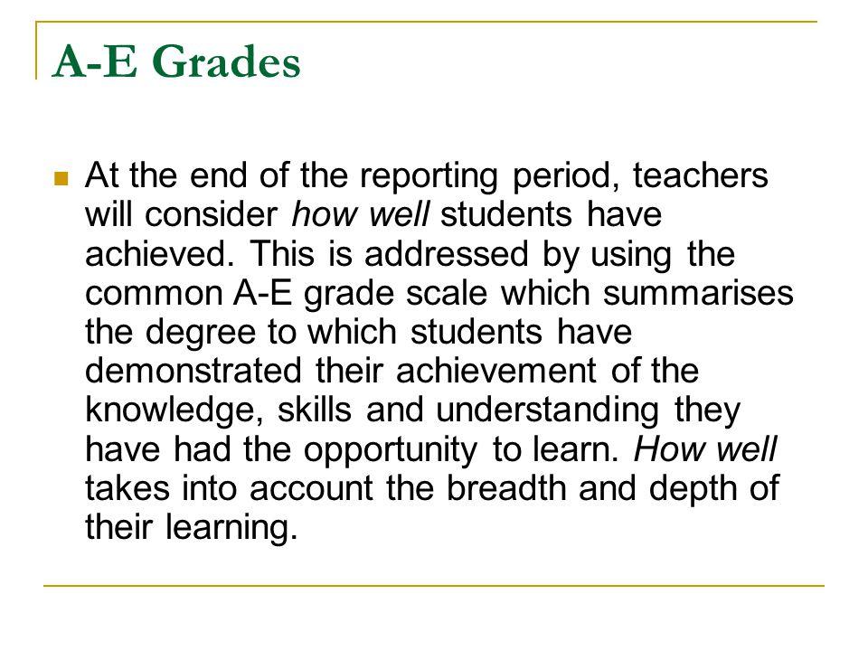 A-E Grades
