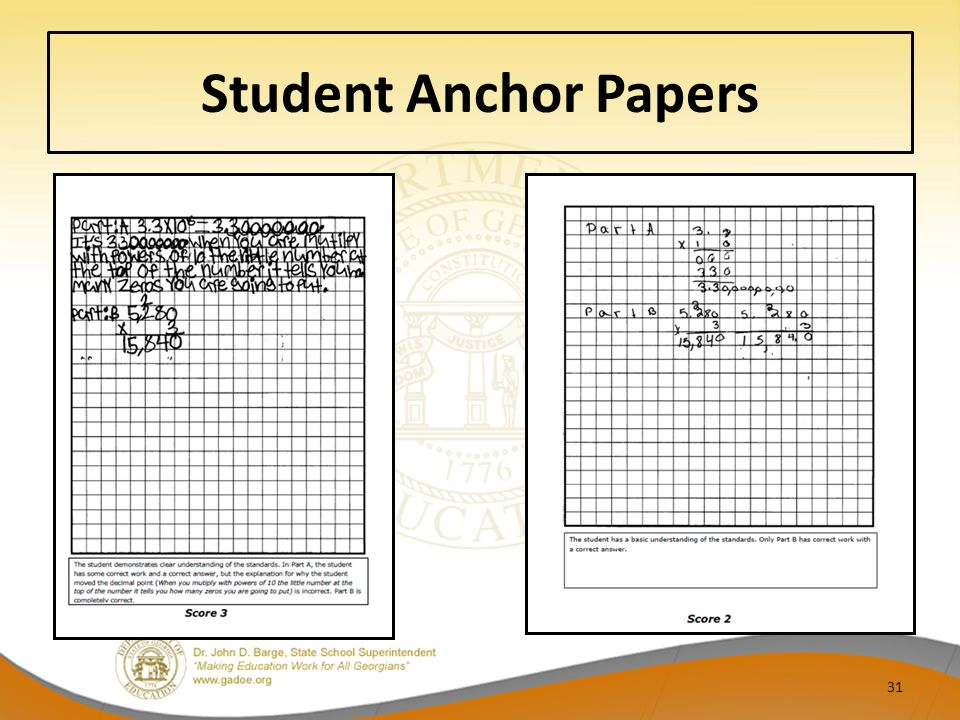 Student Anchor Papers