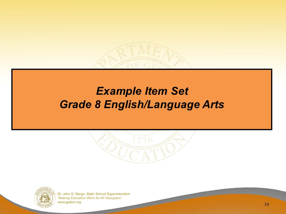 Grade 8 English/Language Arts
