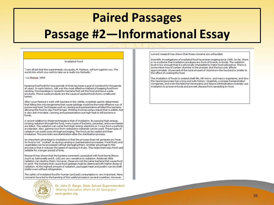 Paired Passages Passage #2—Informational Essay