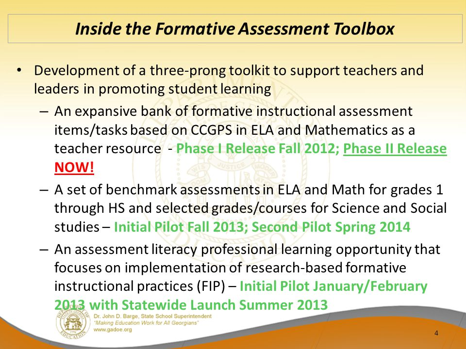 Inside the Formative Assessment Toolbox