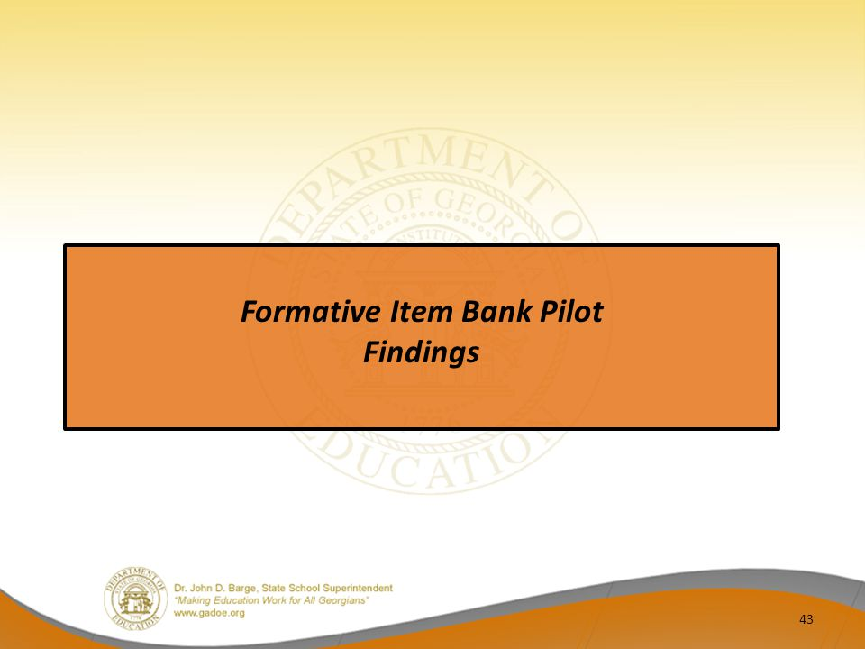 Formative Item Bank Pilot
