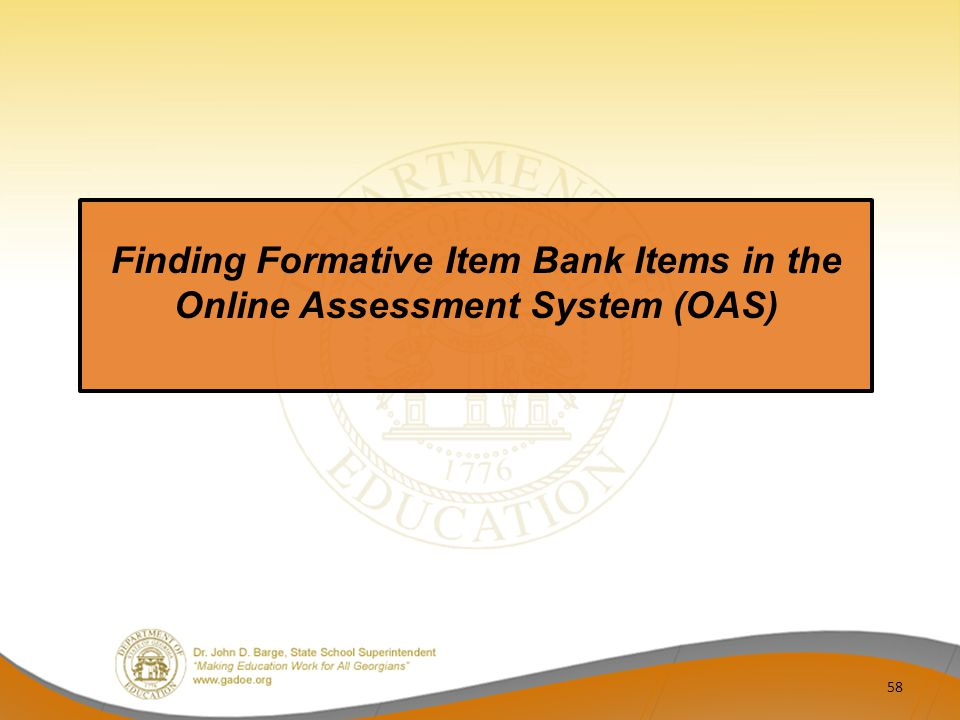 Finding Formative Item Bank Items in the