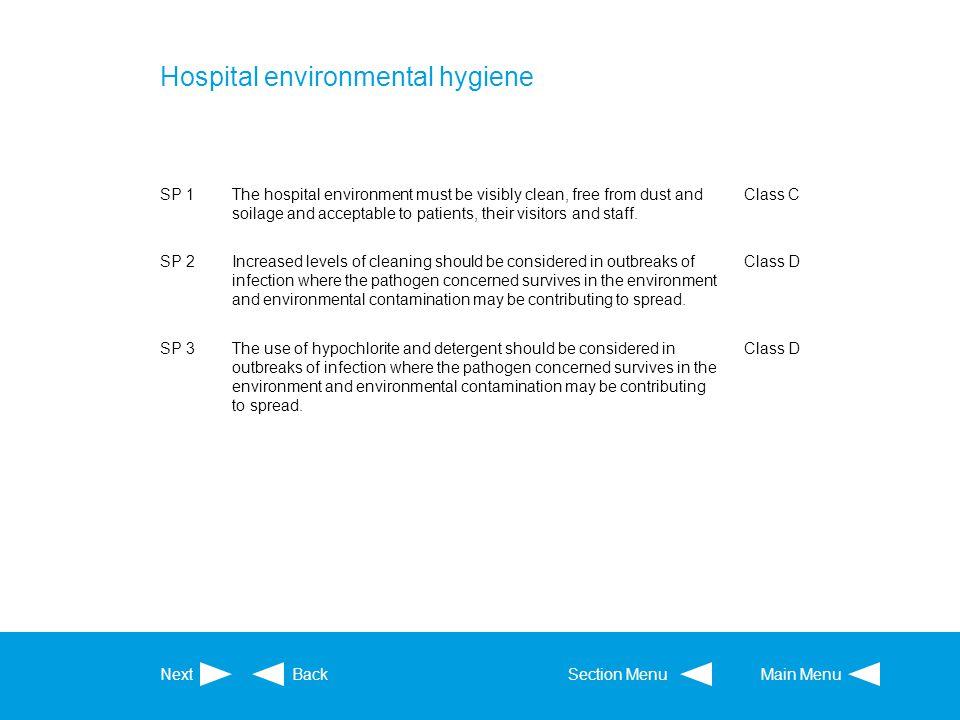 Hospital environmental hygiene