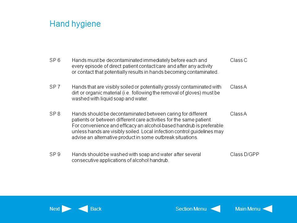 Hand hygiene SP 6.