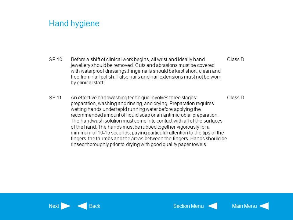 Hand hygiene SP 10.