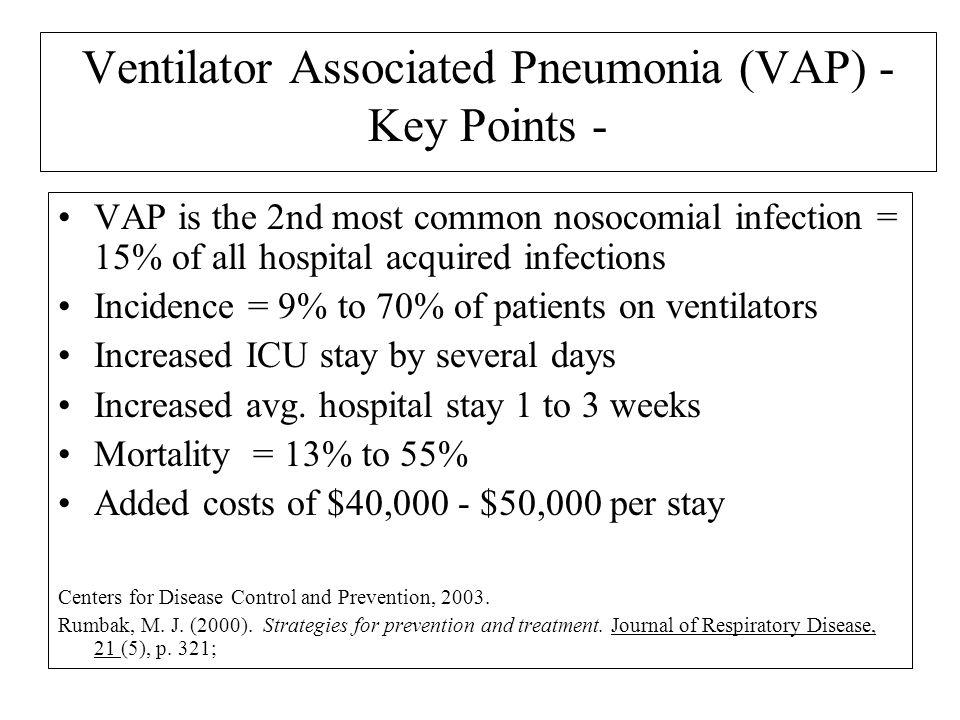 Ventilator Associated Pneumonia (VAP) - Key Points -