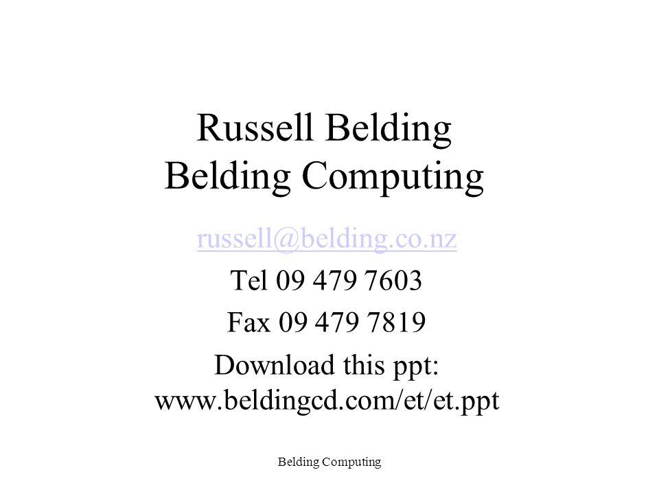 Russell Belding Belding Computing