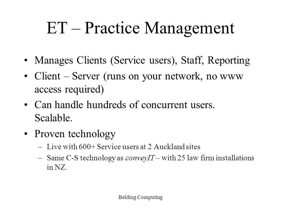 ET – Practice Management