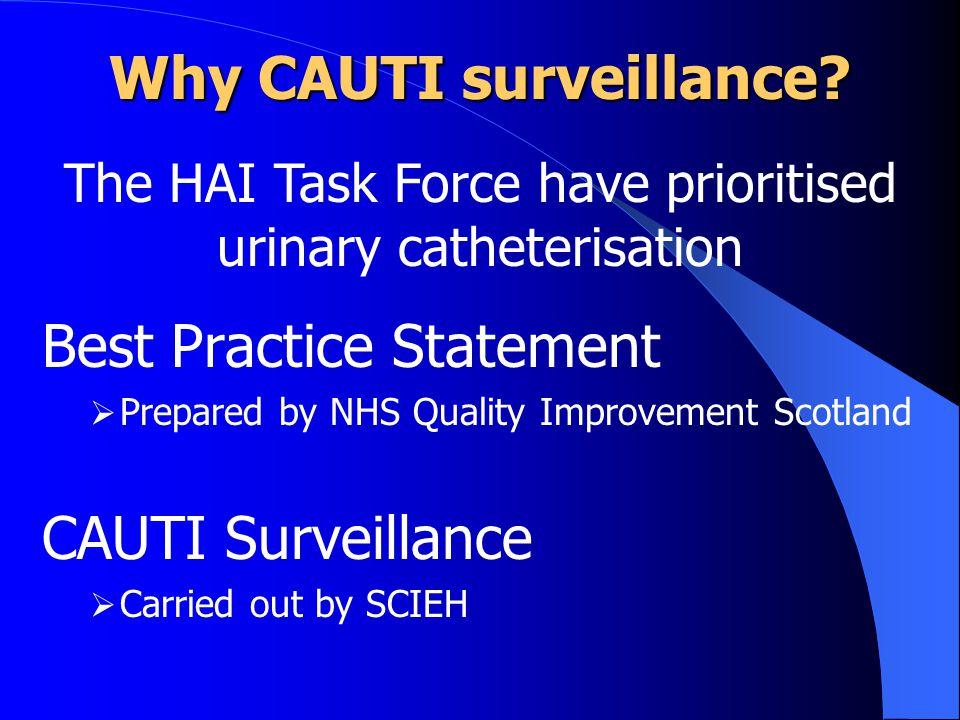 Why CAUTI surveillance