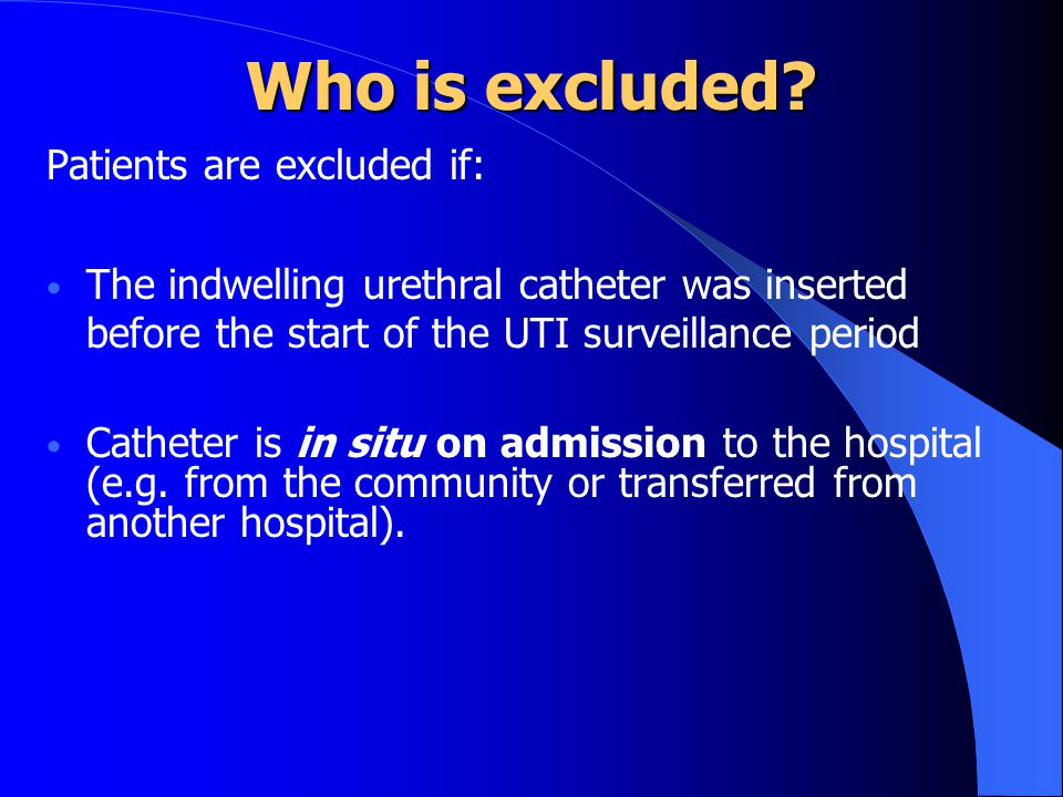 Who is excluded Patients are excluded if: