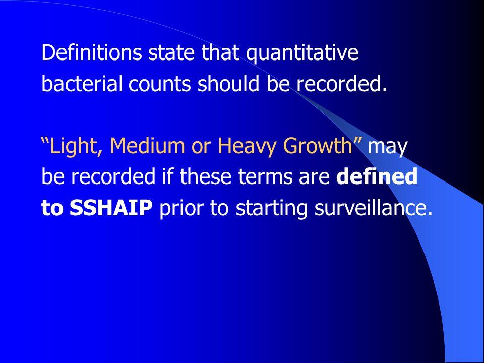 Definitions state that quantitative